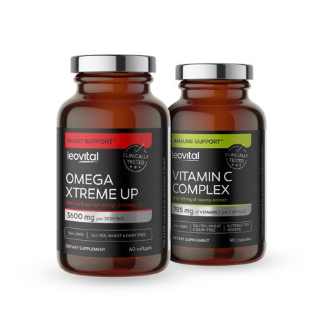 Omega Xtreme Up, 60 softgel kapsula + Vitamin C Complex, 90 kapsula GRATIS