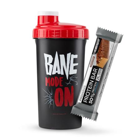 Bane Mode On CORE Shaker, 700 ml + 50% Protein Bar, 50 g GRATIS