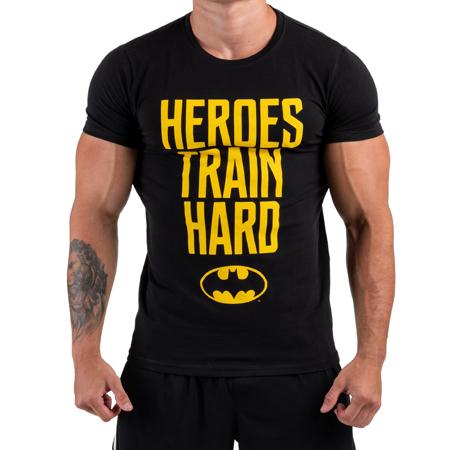 Batman, Heroes train hard, Muscle Fit Tee