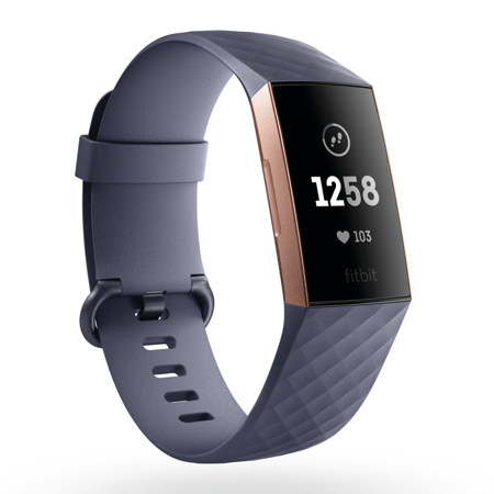 Fitbit Charge 3, Rose Gold/Blue Grey