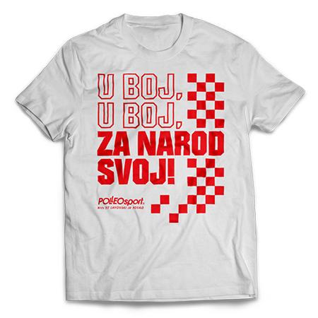 Majica CRO Polleo Sport, bijela, muška