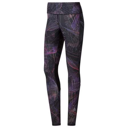 Reebok One Series Running Women's Tights, Black/Purple