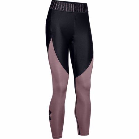 UA HeatGear Armour Ankle Crop Women's Capris, Black/Hushed Pink