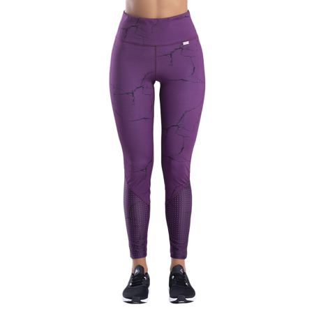 Marble Leggings, Purple
