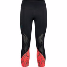 UA Women's Rush Vent Iridescent Graphic Crop Leggings, Black/Beta
