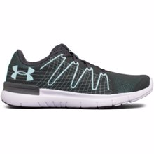 UA Women's Thrill 3 Performance Sneakers, Grey/Light Blue