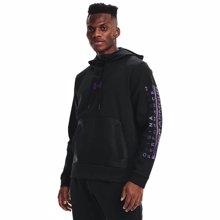 UA Summit Knit Hoodie, Black/Planet Purple