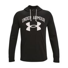 UA Rival Terry Big Logo Hoodie, Black/Onyx White