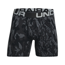 UA Charged Cotton 6in Novelty Boxerjock 3-Pack, Black/Baroque Green