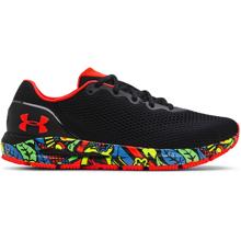 UA HOVR Sonic 4 Run Weird Running Shoes, Black/Phoenix Fire