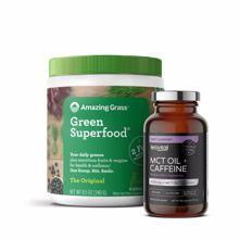 Green Superfood, The Original, 240 g + MCT Oil + Caffeine, 90 kapsula GRATIS