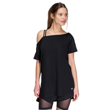 Donna Asymmetrical T-Shirt, Black