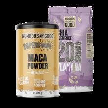 Maca Powder, Organic, 500 g + Chia semena, 750 g GRATIS