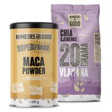 Maca Powder, Organic, 500 g + Chia sjemenke, 750 g GRATIS