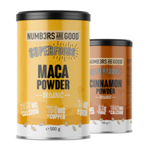 Maca Powder, Organic, 500 g + Cinnamon Powder, Organic, 150 g GRATIS