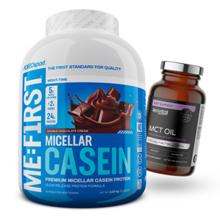 Micellar Casein, 2270 g + MCT Oil, 120 kapsula GRATIS