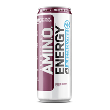 Amino Energy +Electrolytes RTD, Mixed Berry, 250 ml