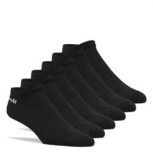 Reebok Active Core Low Cut Socks 6 Pack, Black