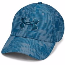 UA Printed Blitzing 3.0 Stretch Fit Cap Blue
