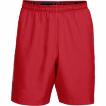 UA Woven Graphic Wordmark Shorts, Red/Black