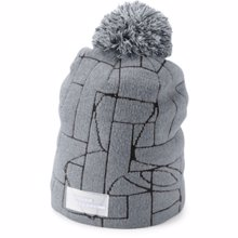 UA Women's UA Graphic Pom Beanie, Steel/Graphite