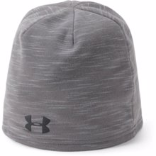 UA Storm Fleece Beanie, Graphite/Black