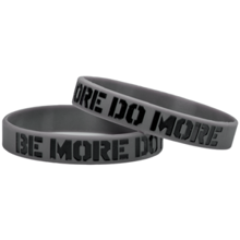 Motivationsarmband, Silikon, Be More Do More