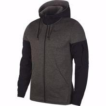Nike Therma Full Zip Dri-Fit Hoodie, Charcoal Heather/Black