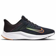 Nike Quest 3 Running Shoe, Obsidian/Orange/Black/Lime Glow