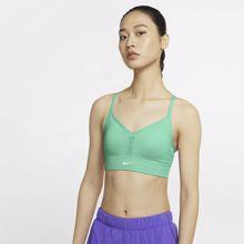 Nike Dri-Fit Indy Seamless Women's Bra, Green Glow/White
