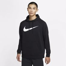 Nike Dri-Fit Swoosh Hoodie, Black/White