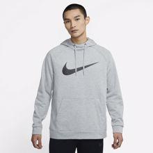 Nike Dri-Fit Swoosh Hoodie, Dark Grey Heather/Black