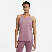 Nike Dri-Fit Women's Elastika Tank, Light Mulberry/White