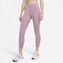 Nike High Space Dye Cropped Women's Leggings, Sweet Beet/Pink Glaze/White