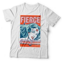 Hero Core Woman T-Shirt, Wonder Woman Fierce Print