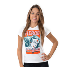 Hero Core Woman T-Shirt, Wonder Woman Fierce Print