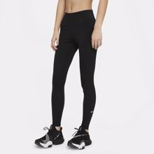 Nike Dri-Fit One Mid Rise Women's Leggings, Black/White