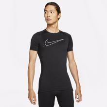 Nike Pro Dri-Fit Tight Fit SS T-Shirt, Black/White