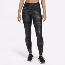 Nike Leggings Dri-Fit One Camo, Dark Smoke Grey/White