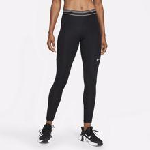 Nike Pro Dri-Fit Mid-Rise Pocket Leggings, Black/White