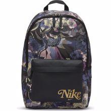 Nike Heritage Women's Backpack AOP, Off Noir/Metallic Gold