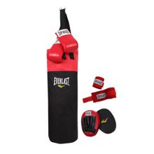 Everlast Boxing Kit, Black/Red