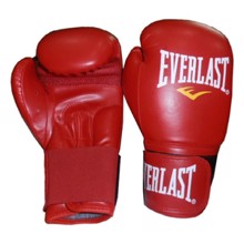 Leather/PU Training Boxing Gloves, Red