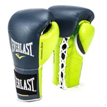 Powerlock Pro Fight Gloves, Navy/Green