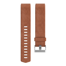 Fitbit Charge 2, Leather Band, Brown