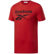 Reebok Graphic Series Big Logo SS Shirt, Motor Red