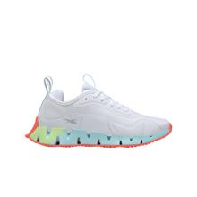 Reebok Zig Dynamica Women's Shoes, White/Neon Mint/Digital Glow