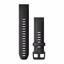 """Garmin nadomestni pašček za Fenix 6S, QuickFit 20"""", Black Silicone"""