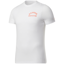 Reebok Weightlifting Short Sleeve Shirt, White