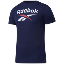 Reebok Graphic Series Stacked Tee, Vector Navy